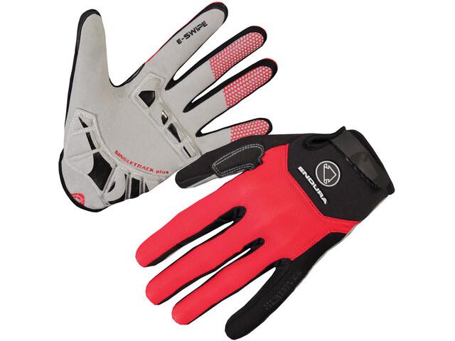 Endura Singletrack Plus Gloves red